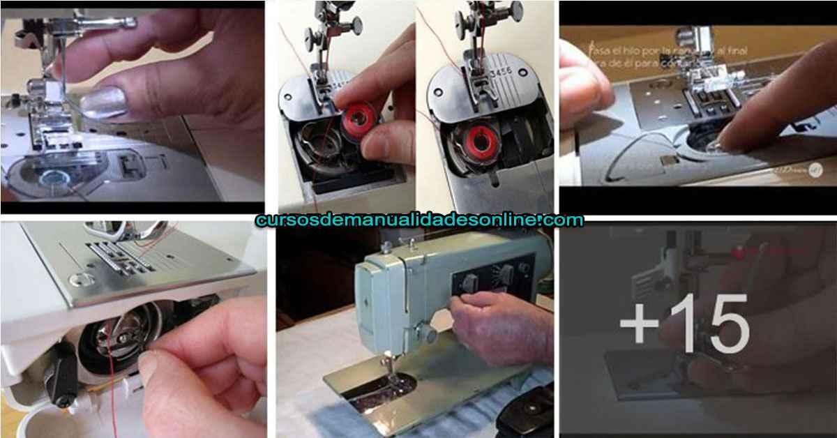 Aprende como poner o enhebrar el hilo en tu maquina de coser