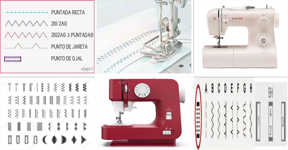 Conoce los TIPOS de PUNTADAS mas utilizadas en tu maquina de coser