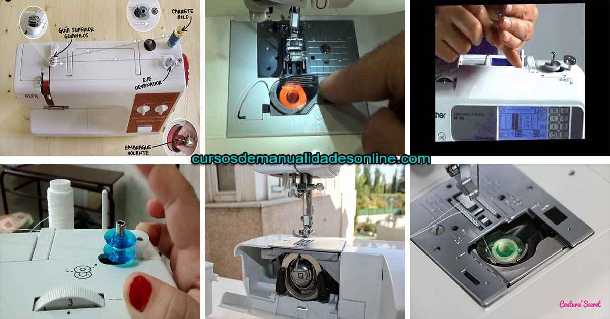 Cómo cargar una bobina de carga frontal en tu maquina de coser