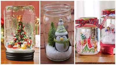 Crea Hermosos Frascos Navideños para tu hogar