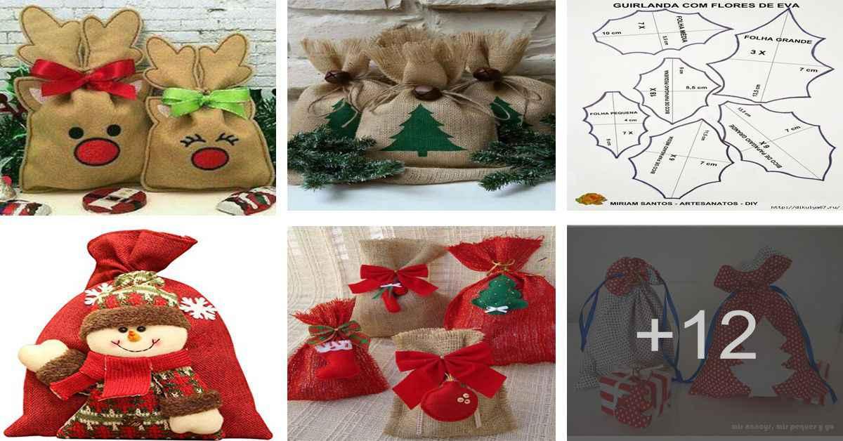 Aprende a realizar hermosas bolsas navideñas para regalar en la navidad