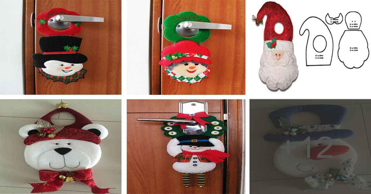 Aprende como decorar tu puerta con hermosos picaportes de navidad