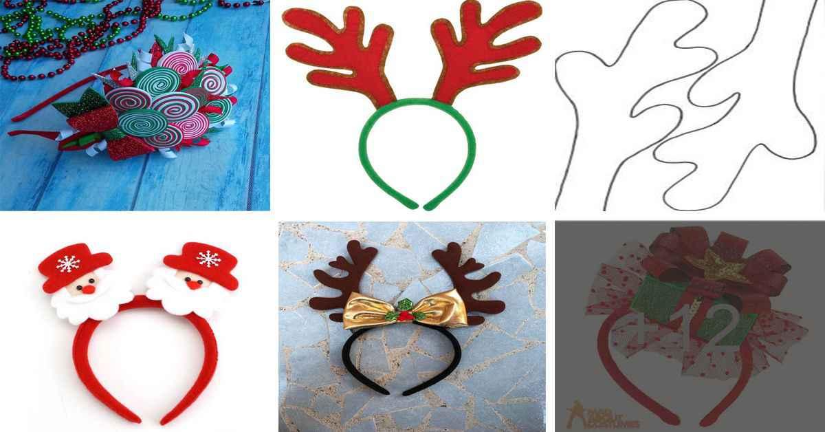 Aprende como crear lindos cintillos navideños paso a paso