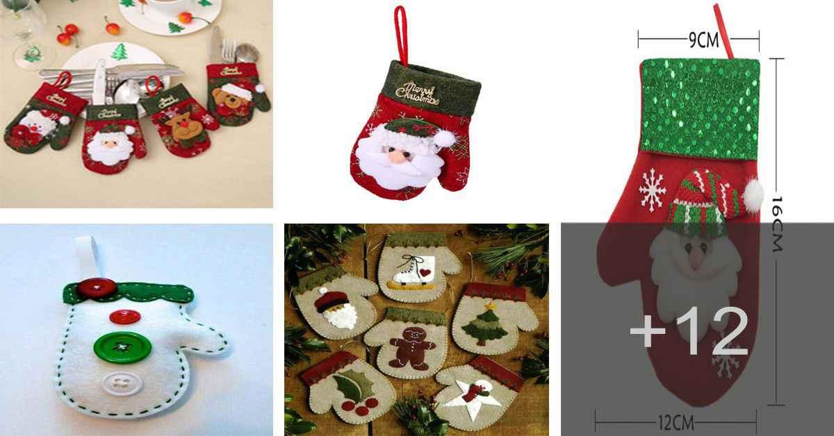 Aprende a realizar hermosos adornos navideños en forma de guante