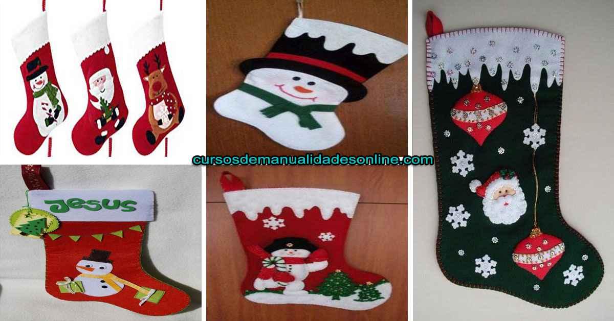 Aprende como realizar el calcetín de navidad