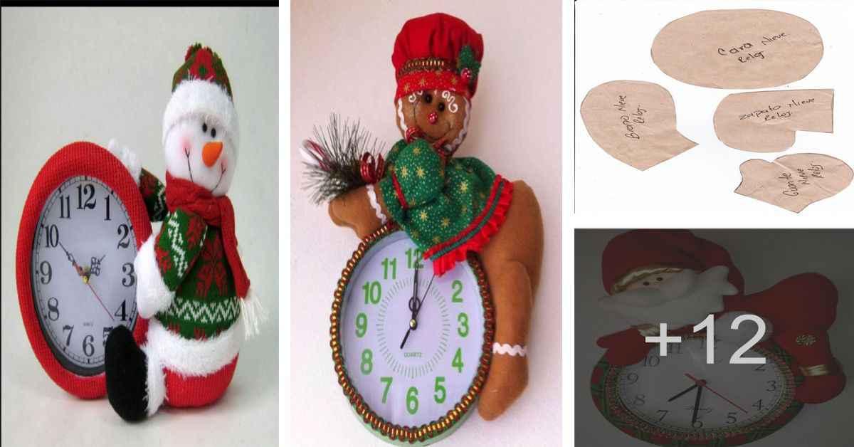 Aprende 5 Formas de cómo decorar reloj de navidad en tela