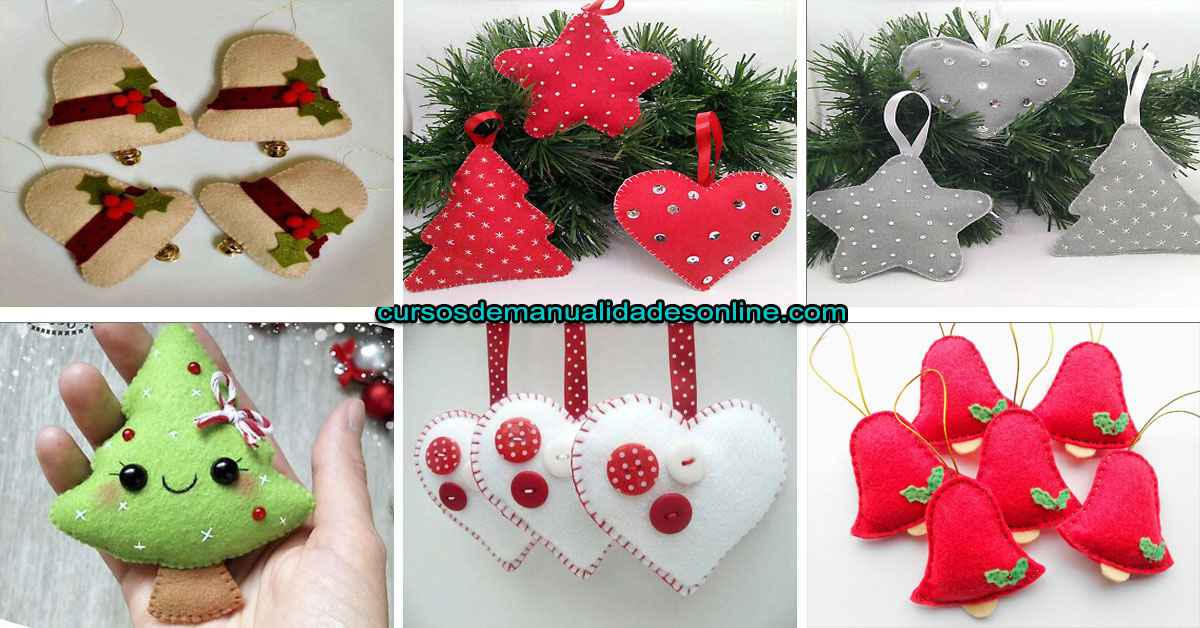 Aprende a realizar lindos adornos de tela o fieltro navideños