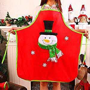 Aprende como realizar un delantal con estilo navideño