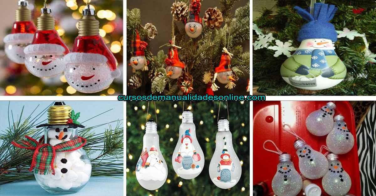 Aprende cómo crear 12 Hermosos adornos navideños con bombillos