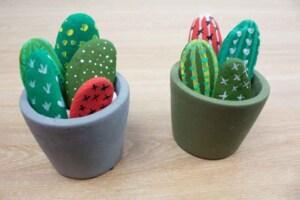 Aprende como crear cactus hechos con piedra