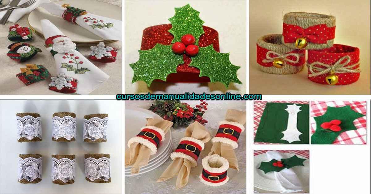 Aprende como crear simples servilleteros para navidad