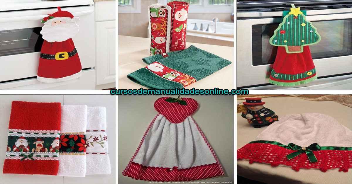 Aprende cómo decorar tus toallas de cocina para navidad
