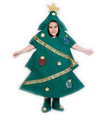 Aprende a crear un disfraz de árbol navideño para los niños