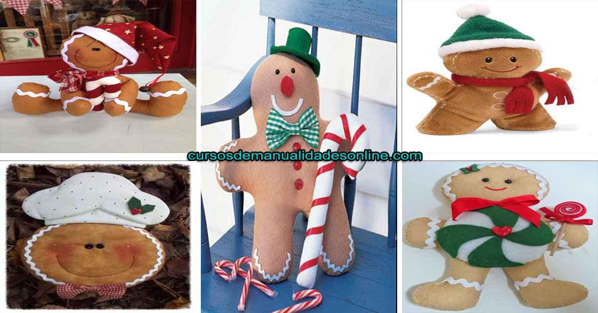 Aprende cómo hacer almohada navideña: galleta de Jengibre