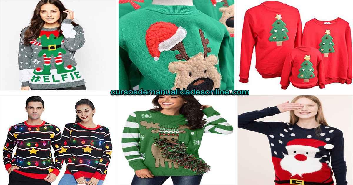 Aprende 7 pasos de como realizar un suéter para esta navidad