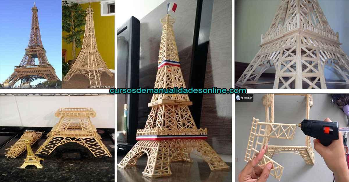 Aprende como crear la Torre Eiffel con palillos paso a paso