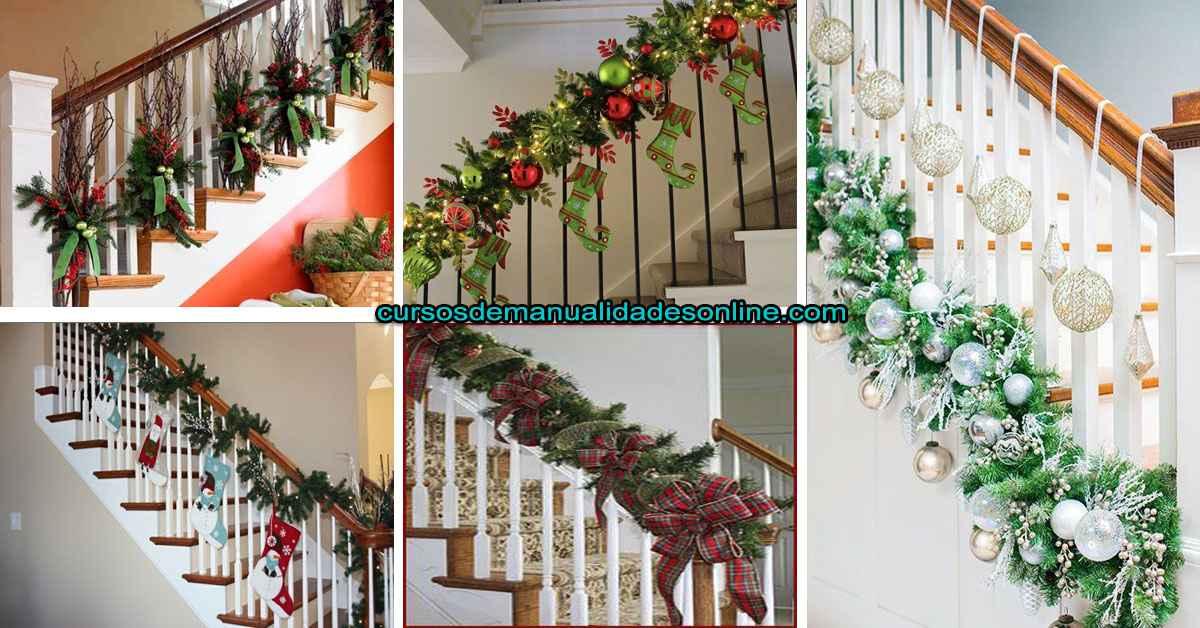 Aprende a hacer decoraciones navideñas para escaleras