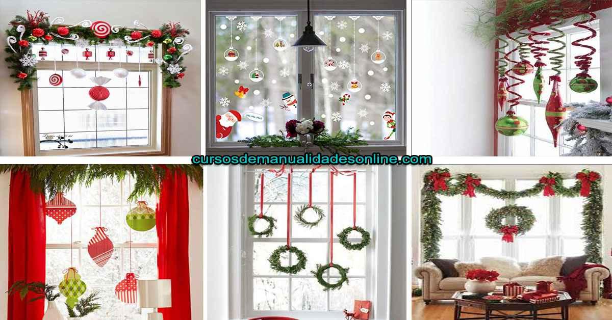 Aprende a hacer decoraciones navideñas para tus ventanas