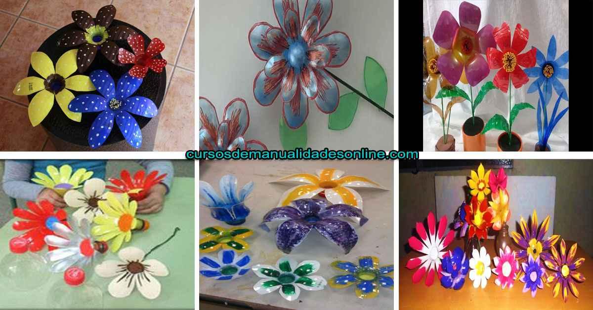Aprende cómo hacer flores con botellas de plástico