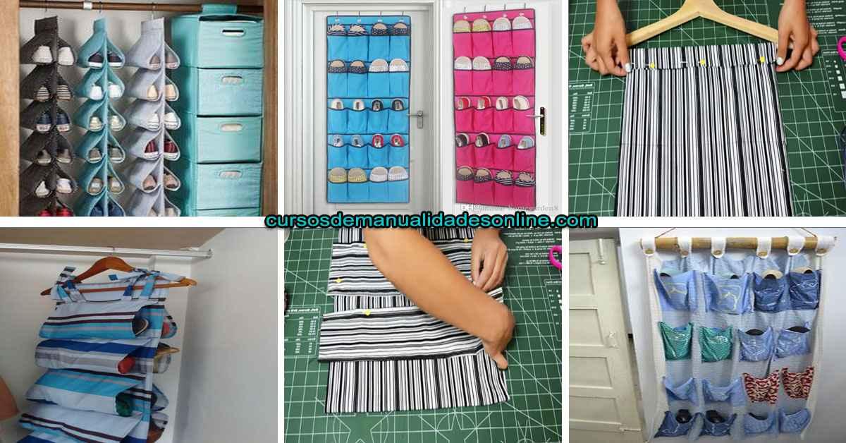 Aprende cómo hacer un organizador de tela para zapatos paso a paso