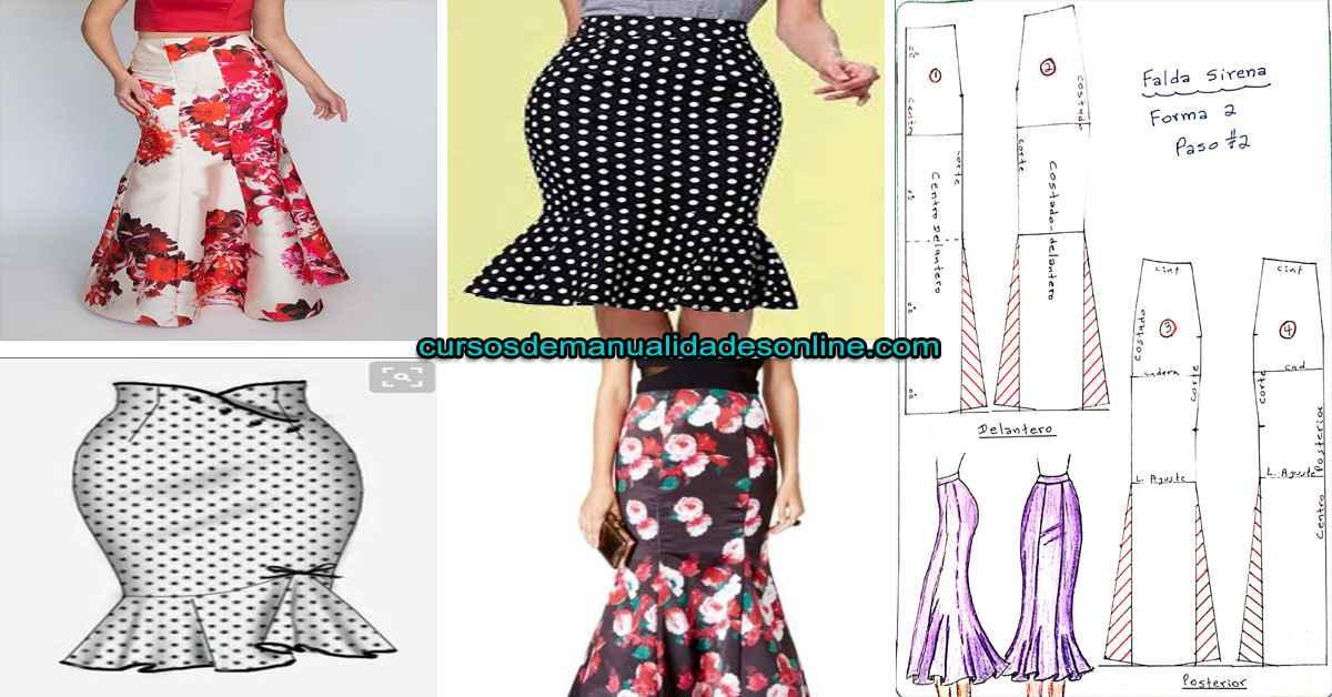 Aprende cómo confeccionar una falda tipo sirena