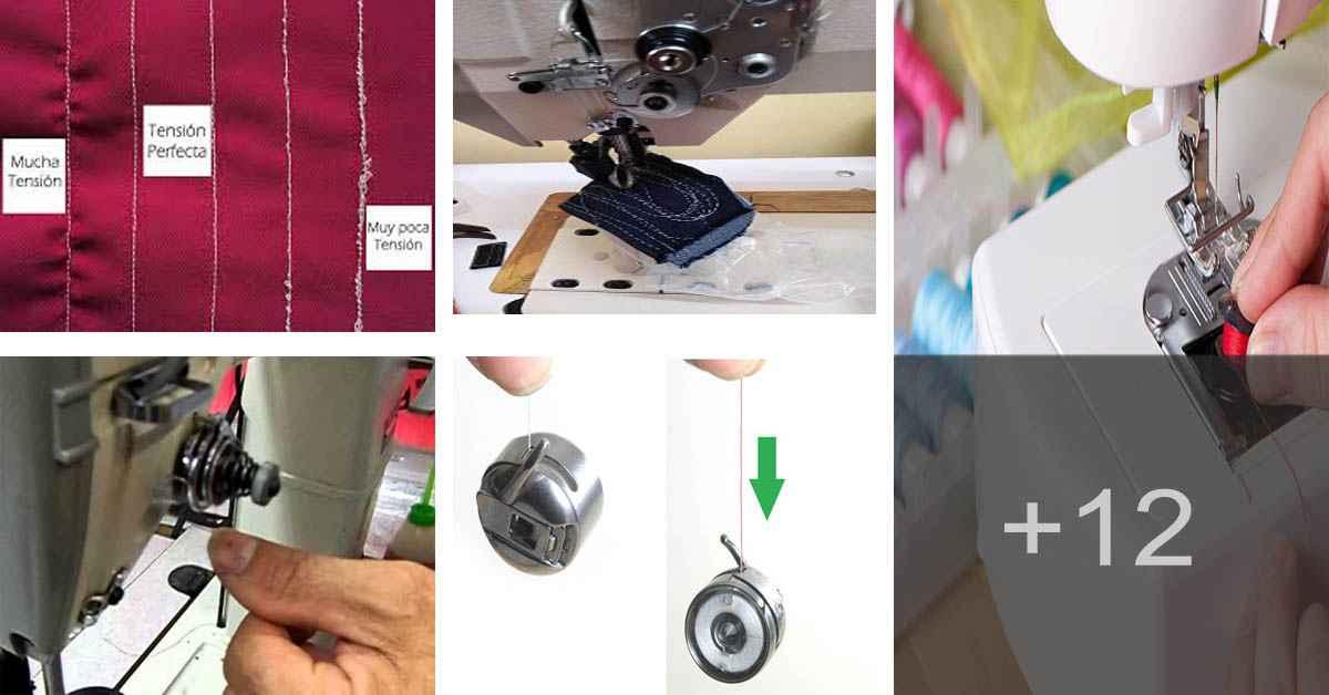 Aprende a ajustar la tensión del hilo superior e inferior de la máquina de coser