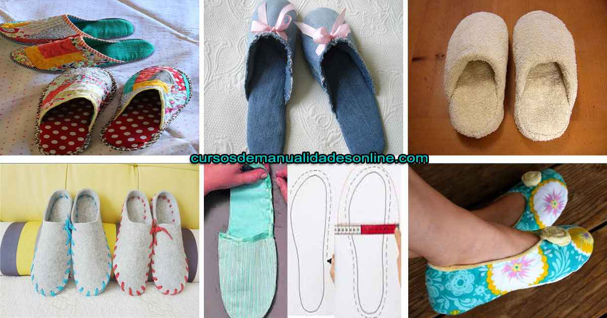 Aprende como confeccionar unas pantuflas con tela o toalla