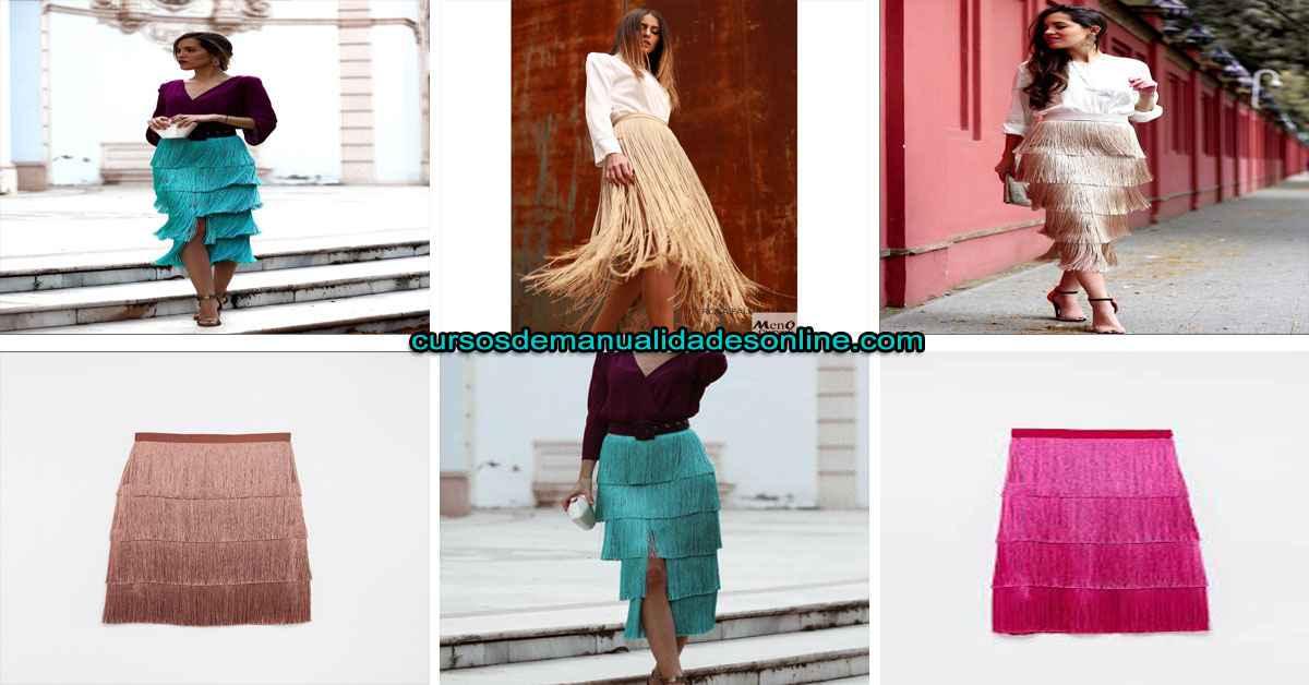 Aprende como confeccionar una falda de flecos