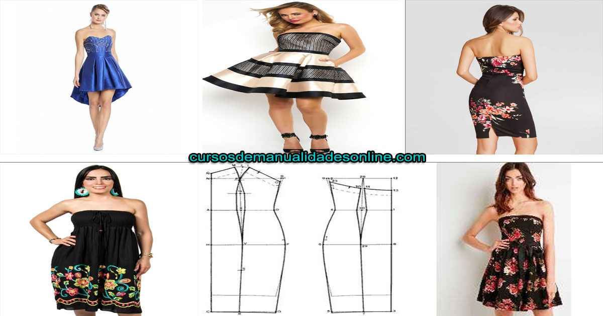Aprende como confeccionar un vestido strapless