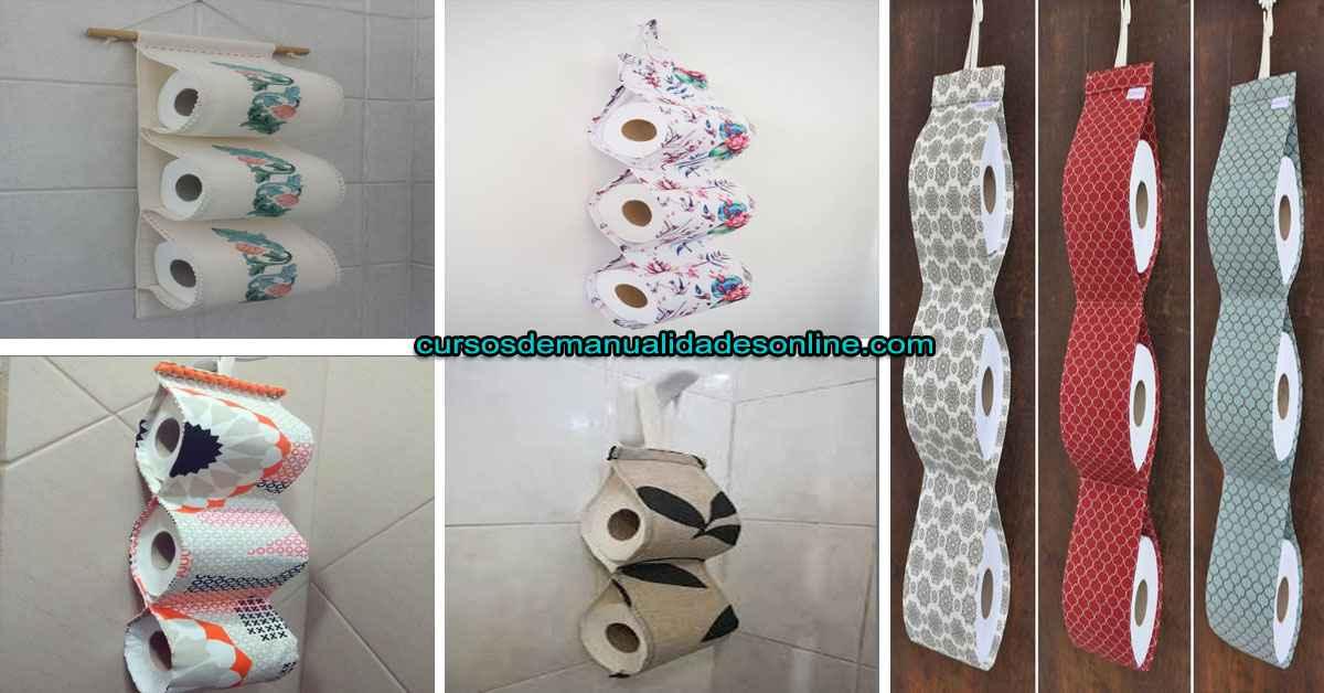 Aprende como confeccionar de manera simple porta papel higiénico de tela