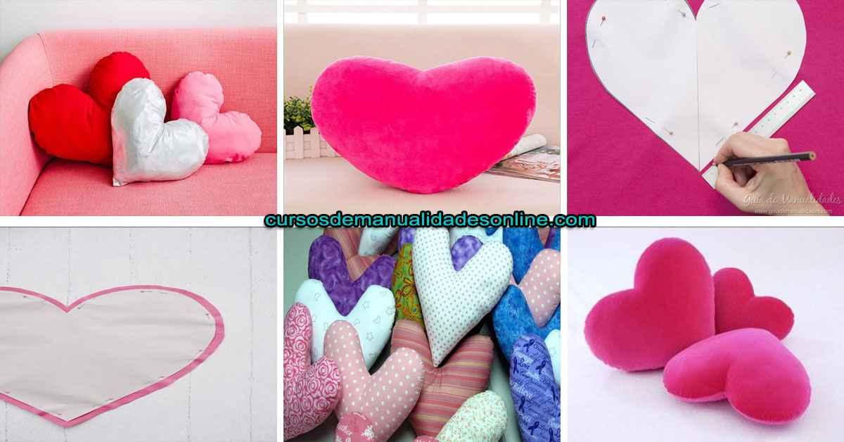 Aprende como hacer una almohada en forma de corazón