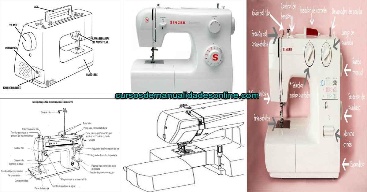 Conoce las diferentes piezas de la máquina de coser