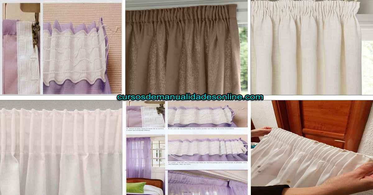 Aprende 8 trucos de como confeccionar cortinas con cinta fruncida