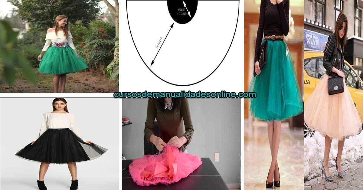 Aprende como confeccionar falda tul con vuelo paso a paso