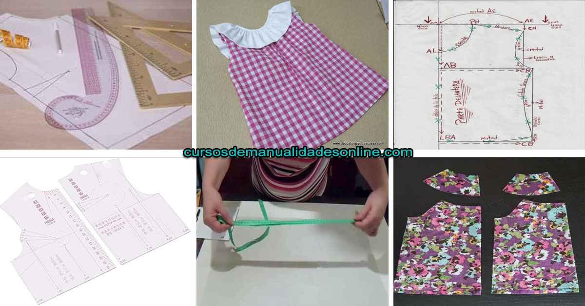 Aprende como hacer un patron base de blusa para niña