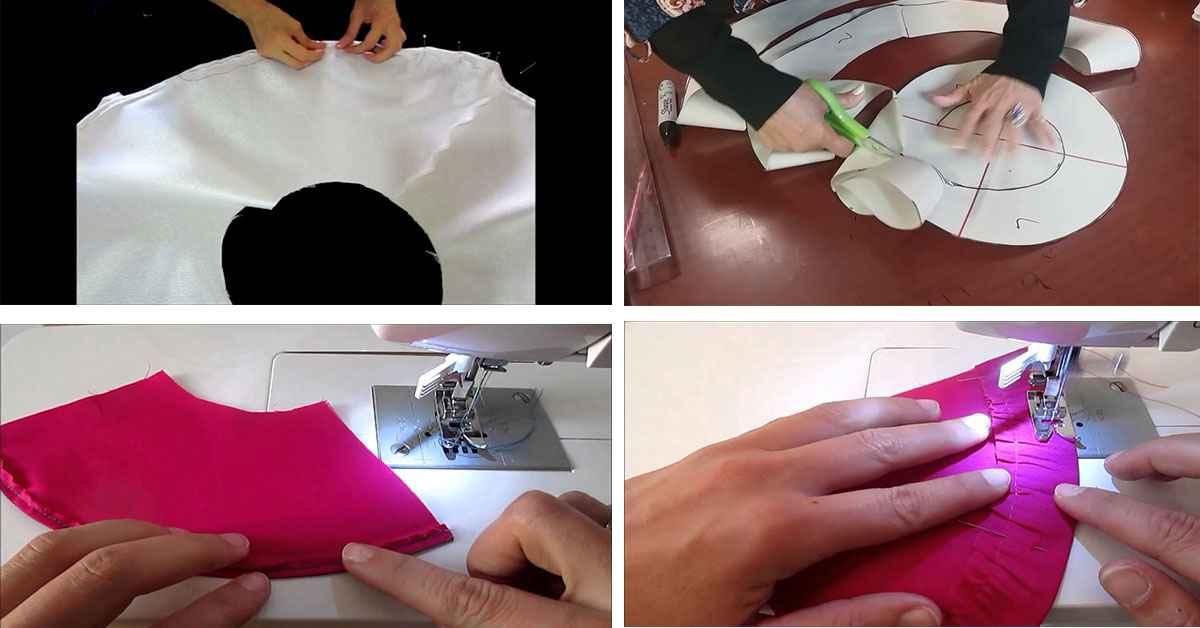 Aprende como coser un dobladillo circular en falda
