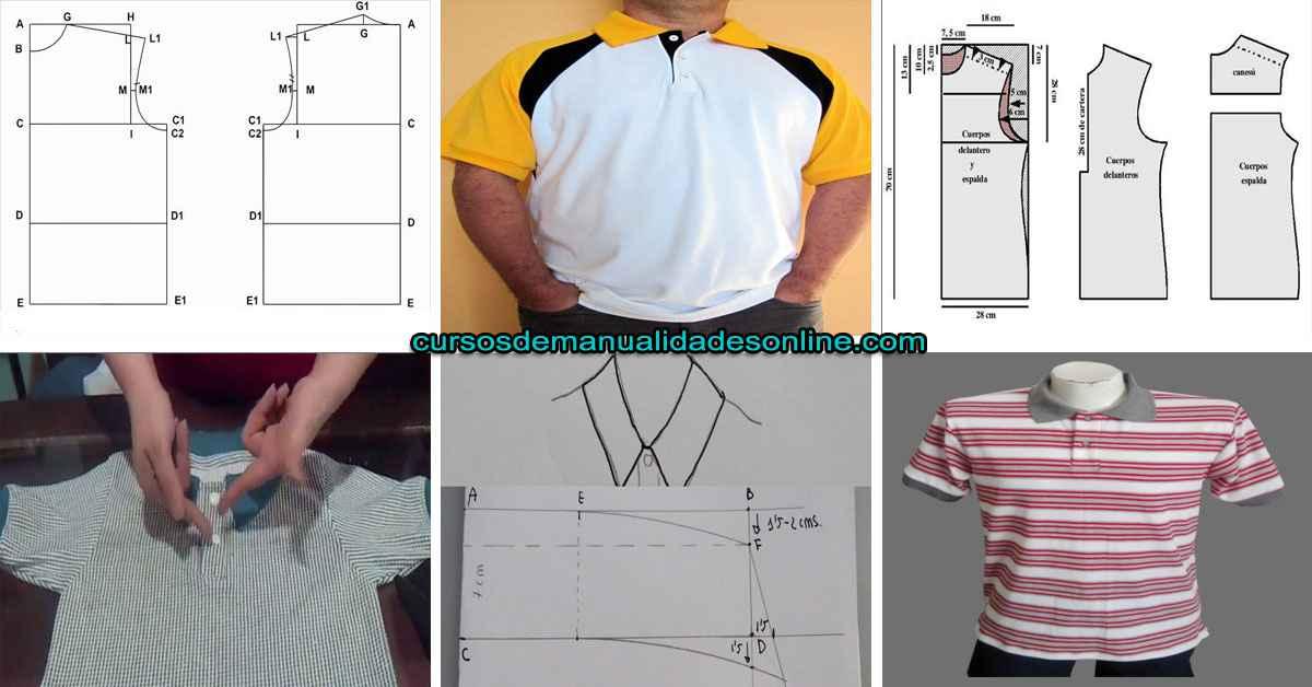 Aprende patrón de como hacer una camiseta polo paso a paso