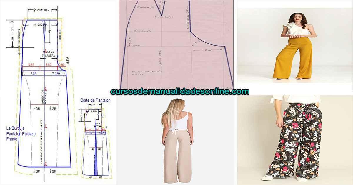 Aprende como hacer trazo de pantalon Palazzo