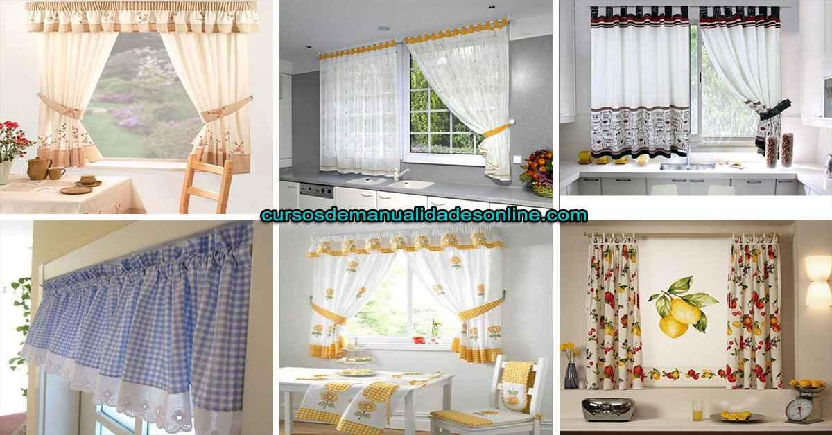 Aprende como confeccionar una cortina para cocina paso a paso