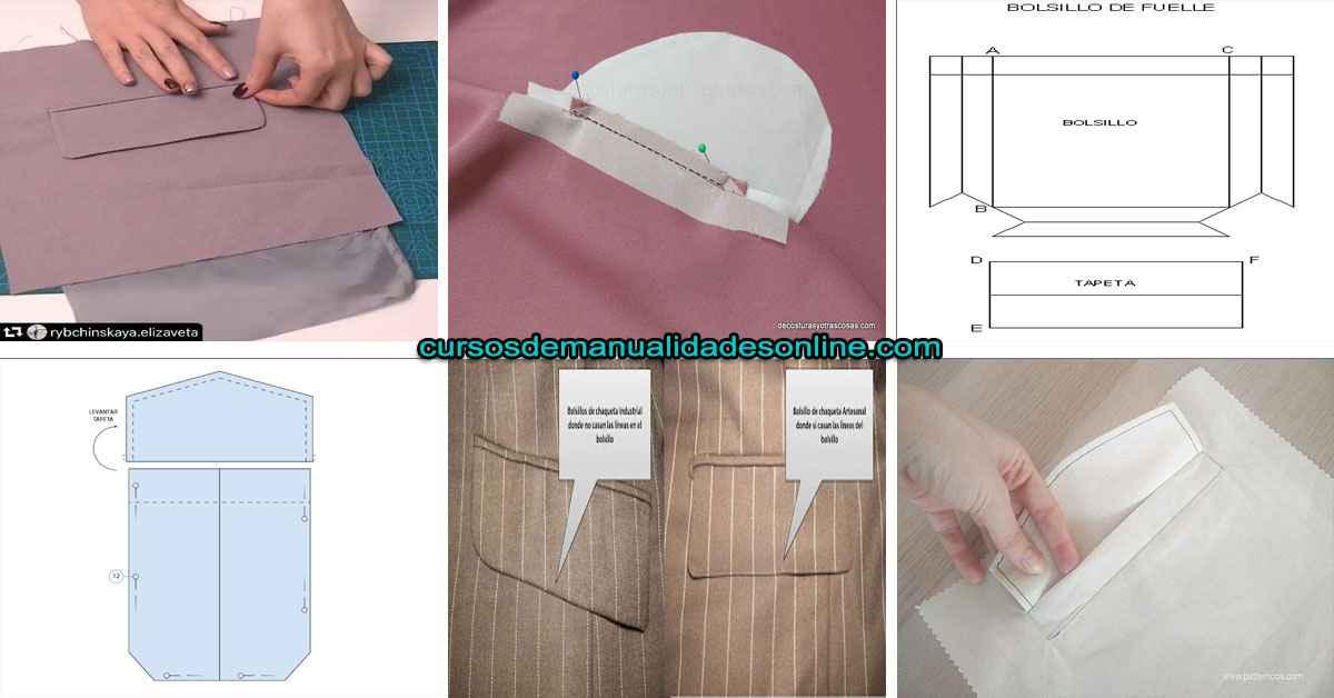 Aprende como hacer un bolsillo de ojal con tapeta