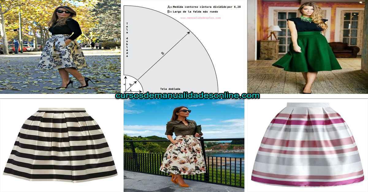 Aprende como hacer una falda en circular