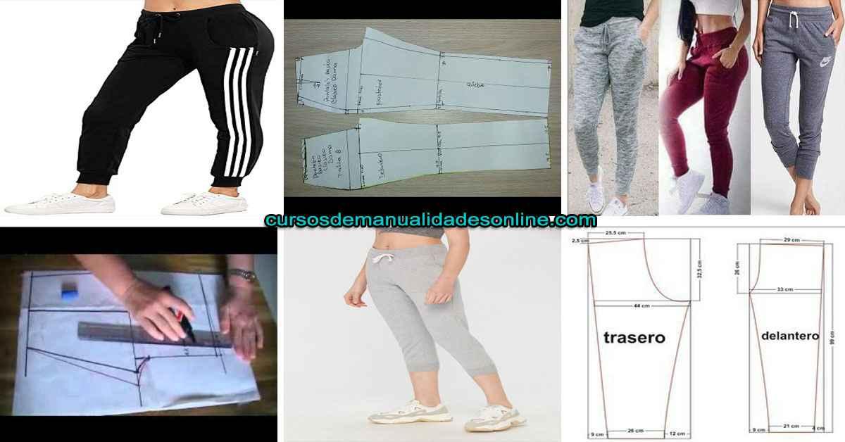 Aprende como hacer trazo delantero de un pantalón deportivo para dama