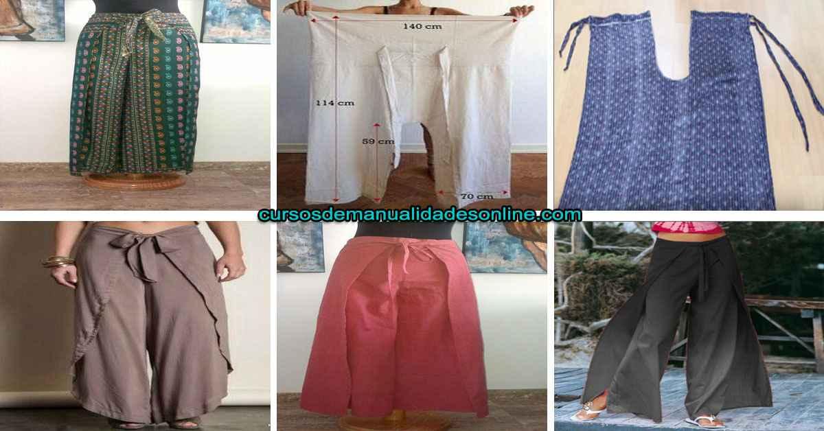 Aprende como confeccionar un pantalón envolvente playero paso a paso