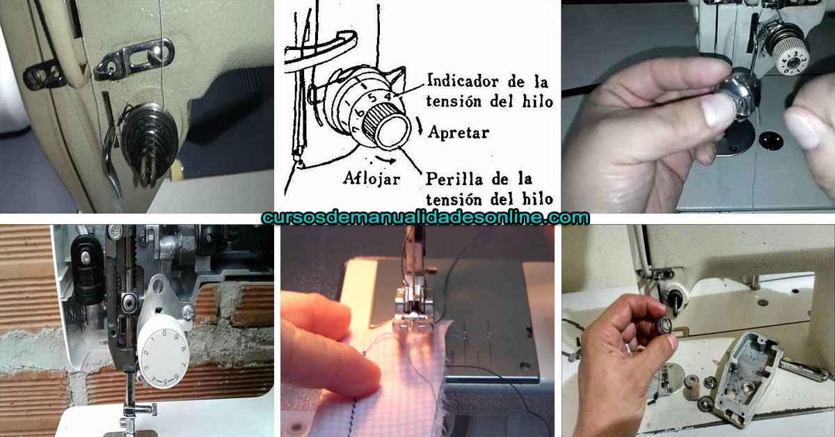 Aprende como regular la tensión del hilo superior en la maquina de coser paso a paso