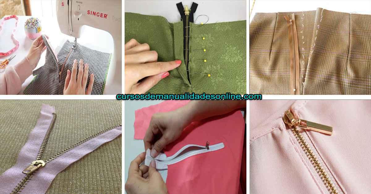 Aprende a como poner un cierre normal en cualquier prenda con maquina de coser