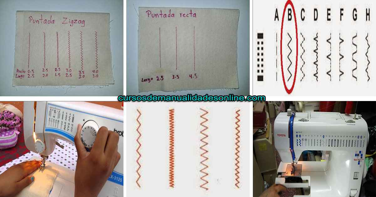 Aprende como hacer puntada recta y zigzag en tu maquina de coser