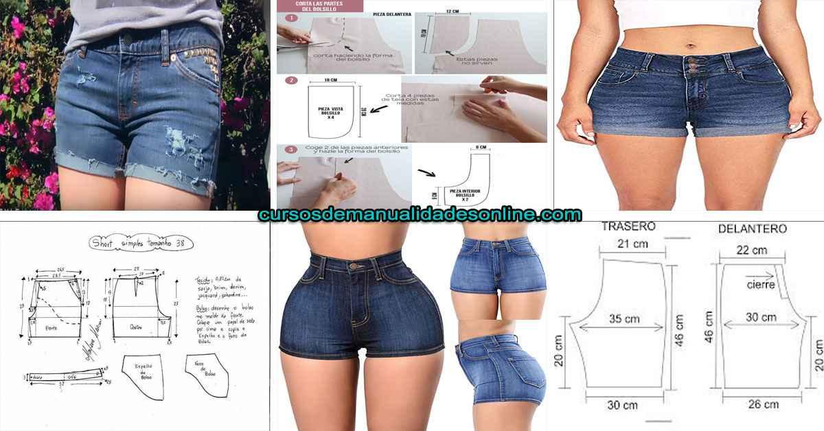 Aprende como confeccionar pantalón corto jeans paso a paso