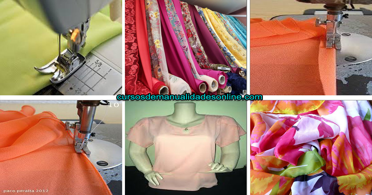 Aprende como coser tela fina en maquina de coser paso a paso