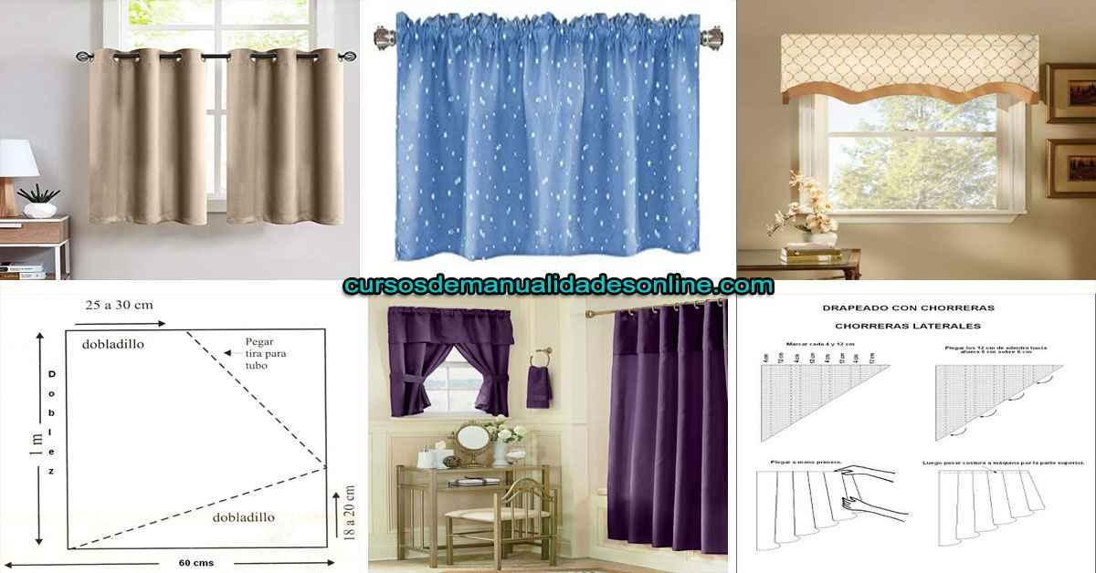 Aprende como coser cortinas pequeñas para ventanas de la casa