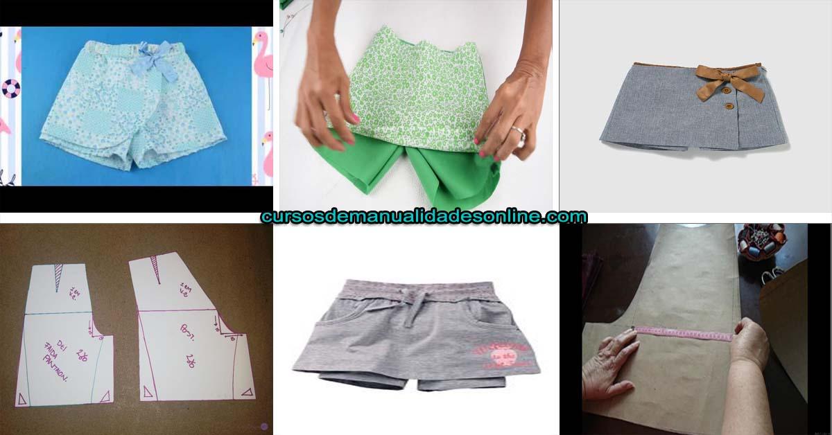 Aprende a como hacer una falda pantalón para niña